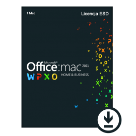 Microsoft Office 2011 Home and Business 1PC MAC ESD PL