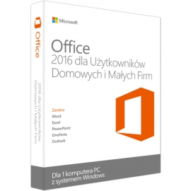 Microsoft Office 2016 Dom i Firma (Home and Business) P2 PKC-BOX PL