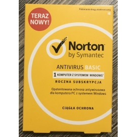Norton AntiVirus Basic BOX 1PC 1Rok PL