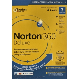Norton 360 Deluxe 3PC 1Rok